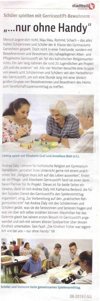 Gerresheimer Gazette 08.2019