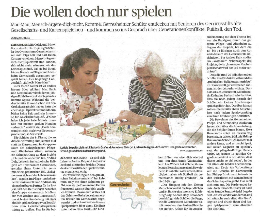 Rheinische Post, 13.7.2019