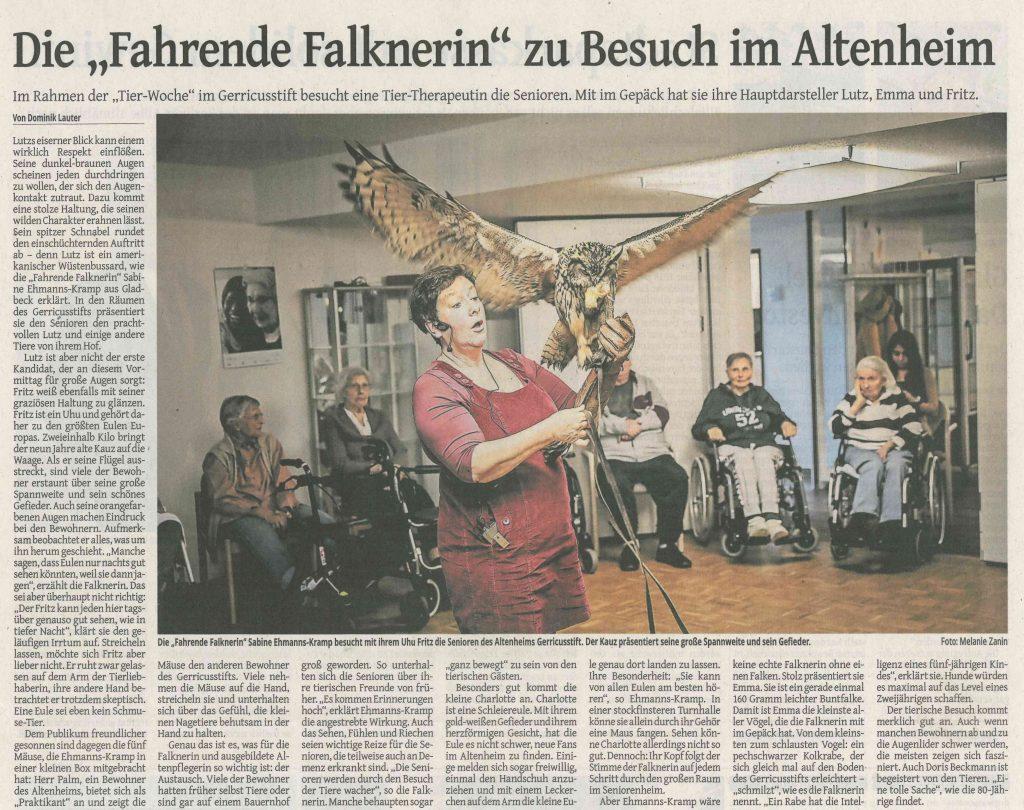 Westdeutsche Zeitung Düsseldorf, 11.03.2020
